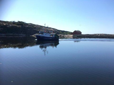 VAKKERT SKUE:   Fiskerne synes det er vanskelige å vite omfanget av torskebestanden i det blikkstille vannet utenfor Hvalerskjærgården.