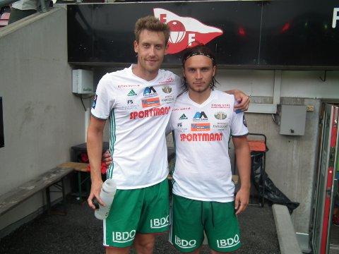 KLAR FOR KAMP: Ole Heieren Hansen (til venstre) er klar for å møte moderkluben lørdag.