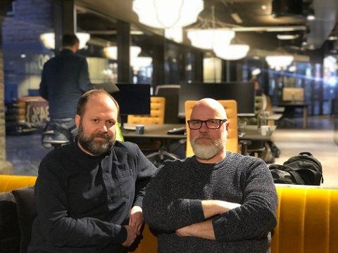 Festivalleder for Fredrikstad Animation Festival Anders Narverud Moen (t.v) og Creative Director i Netron Torgeir Holm (t.h) er begge skuffet over kommunens kutt i kulturmidlene.