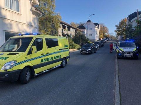 TIRSDAG: Trafikkulykke i Glemmengata - Anton Kinns vei. Ingen av bilene på bildet var involvert i ulykken.