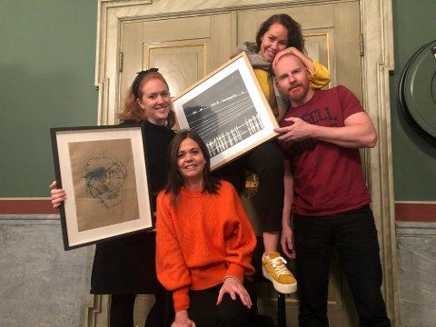 Tonje Kornelie, Cahtrine Lund, Cathrine Omberg og Eddi Saxegaard er spente før helgens utstilling.