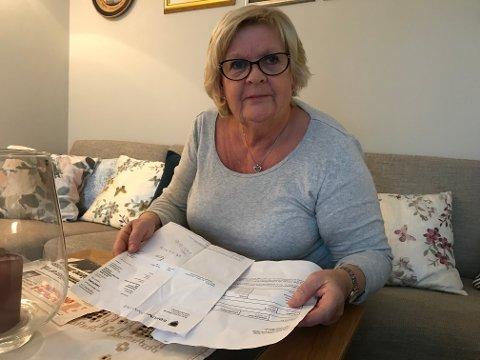 Irritert: Kari Huse skjønner ikke hvorfor regningen fra kommunen er sendt ut.