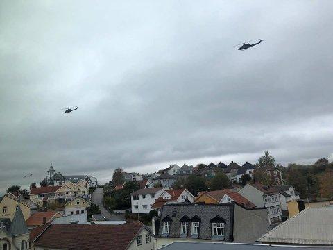 Øvelse: Luftforsvaret har jevnlige øvelser i Fredrikstad-distriktet. I dag onsdag og neste uke flyr de over Veum-området.