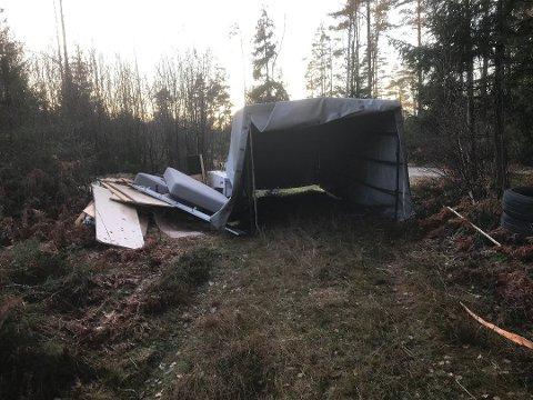 Gjenkjent: Eieren av avfallet på Skogstrand kjente det igjen i avisen. Hun hadde betalt noen for å fjerne det, og har nå politianeldt saken.