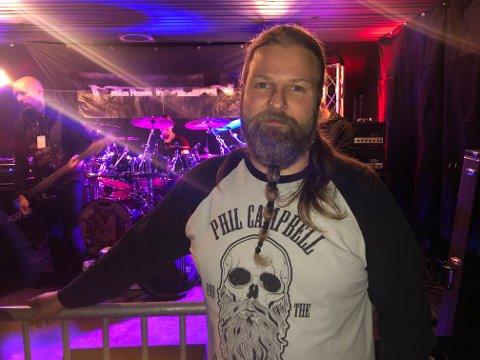 Dag Kopperud er klar for to kvelder med metallmusikk.
