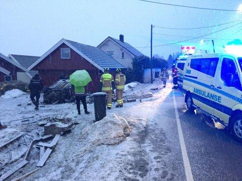 Trafikkulykke på Rolvsøy tirsdag ettermiddag.