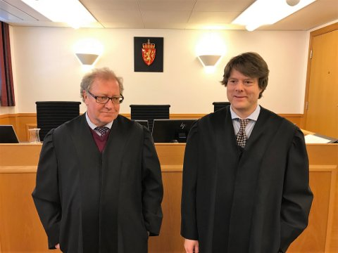 STEILE FRONTER: Arild Karlsen og Jacob Sanden Ringsrød representerer hhv. kvinnen og mannen i saken.