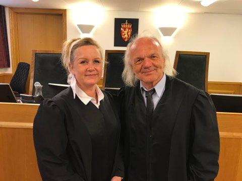ENIGE: Yvonne Schilling og Harald Otterstad, har sjelden vært like enige om en straffepåstand som på torsdag.