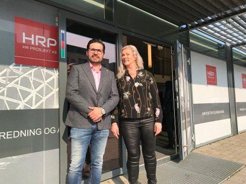 SULTNE KONSULENTER: HRP's Robert André Bjørnstad og Nina Kvestad, gleder seg til å bygge opp det nye Fredrikstad-kontoret.