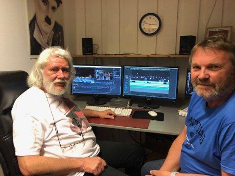 – Hvalfangst var Norges første økonomiske eventyr, mener Tor Martinsen (t.h) og Gunnar Bjerketvedt. Etter minst 13 år er dokumentarfilmen deres endelig ferdig.