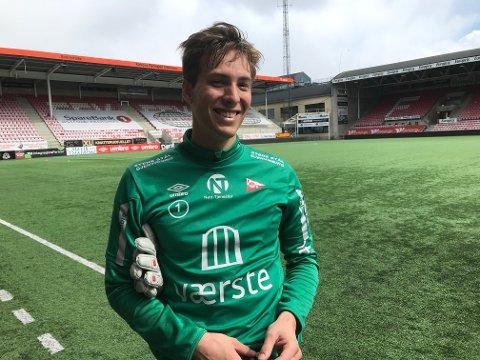 BARE SMIL: Håvar G. Jensen var et eneste stort smil etter mandagens trening. Glemt var tabbene fra helgen.