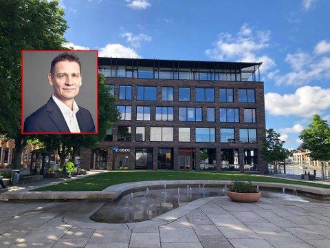 Flytter til Fredrikstad: Tommy Thorvaldsen blir leder for Global Connects kontor i Fredrikstad. 4. juli flytter de inn her, i Storgata 5.