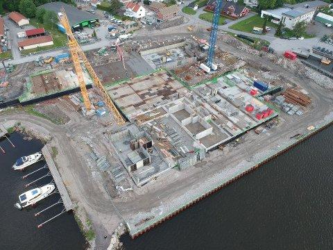 BRYGGA: Her bygges Bruket Brygge.