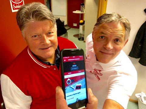 NYE TIDER: Sverre Jarild (til høyre) og Ørjan Løvdal ønsker å nå ut til flere gjennom den nye appen.
