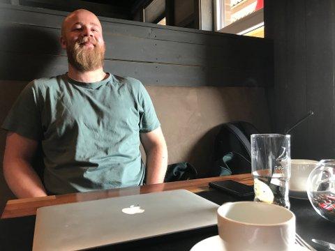 SPENT: Eirik Haugdal blir en av de nærmeste dagene far til en liten datter.