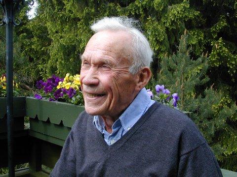SMIL OG GLEDE: Leif Aune var en takknemlig person.
