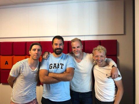 Christian Brevik, Kristian Bolstad, Stian Enghaug og Jacob Berg diskuterte FFK etter kampen mot Egersund.