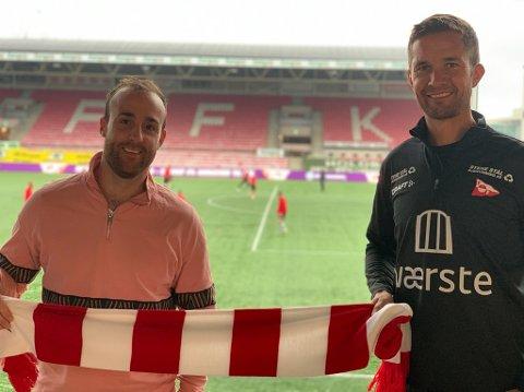 Lars Petter Brovold (til høyre) og FFK innleder nå et samarbeid med Stefan McDowell og AIM Studios.