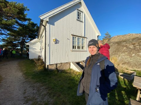 Avdelingsleder Stine Greni i Oslofjordens Friluftsråd har ansvaret for å koordinere alle innspill for videre bruk av Pynten. Her på befaringen på stedet i fjor høst.
