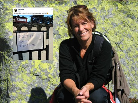 HOLDER SEG I SAMME KOMMUNE: Kanskje flere i Sandefjord er i samme situasjon som Else Fuhre? Hun har hytte på Tjøme og bolig på Nøtterøy. Dermed har hun lov til å bo på hytta hun er så glad i for tiden.