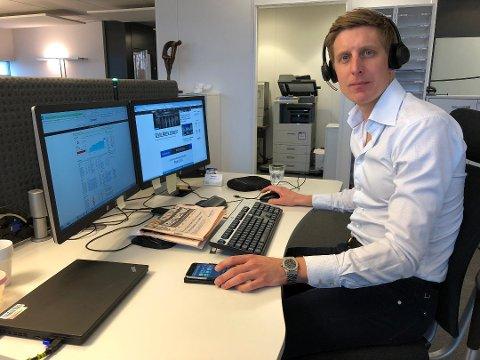 HEKTISK MANDAG: Børs-kollapsen mandag morgen har sørget for en frykt i markedet, sier Jørgen Pettersen hos Nordea Private Banking.