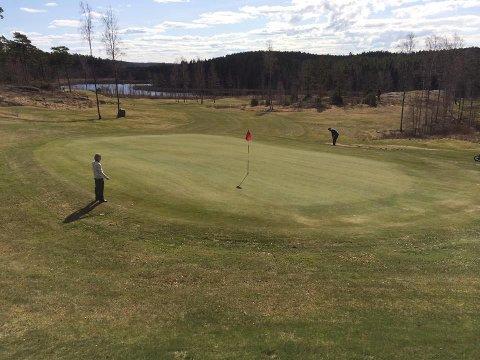 Nedgang: Det har vært langt mindre aktivitet på Dynekilen golfklubb i år grunnet koronakrisen.