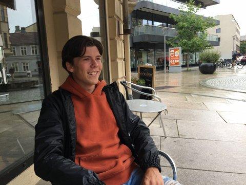 Drømmer om bedre vær: I South Carolina kan Markus Skjelstad droppe både jakke og genser.