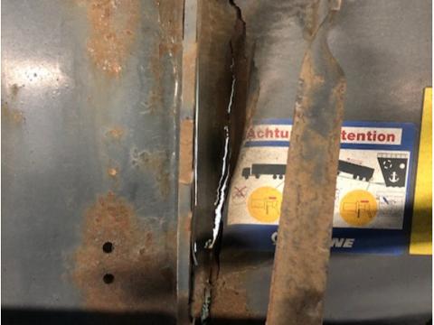 MINDRE ENN OPTIMAL: Det var mye rust og mangler som ble avdekket under vegvesenets kontroller på Svinesund.