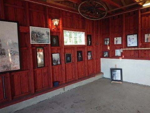 STILLER UT: Utstillingen på Brandstorp Gård er klar for åpning denne helgen. I to dager kan publikum nyte bildene til Torill Haavin og Irene Kolberg.