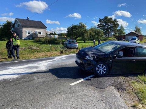 To biler kolliderte i krysset Seppoveien -