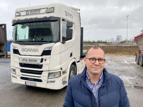 Trond-Michael Borrie Stensrød har møysommelig bygget opp transportselskapet Borrie transport AS. Selskapet driver innen spesialtransport.