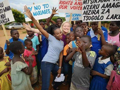 MALAWI: Anette har flere ganger vært i Afrika for å lage reportasjer for Kirkens Nødhjelp.