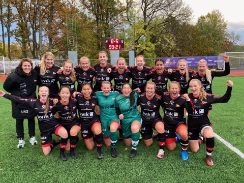 FFK-kvinnene ble seriemestere i 3. divisjon søndag.