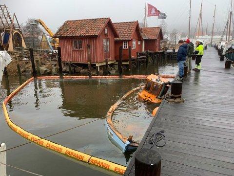 Den 30 fot store fiskeskøyta sank natt til torsdag.