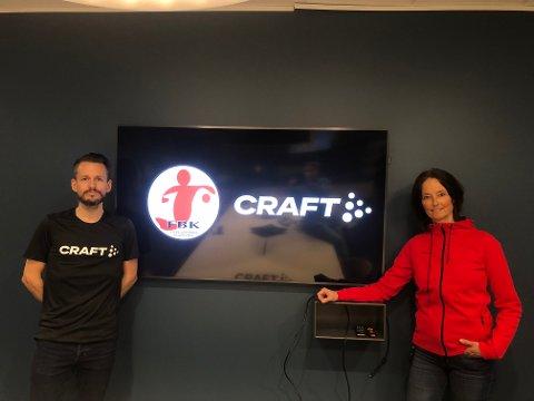 Christopher Fevang i Craft/New Wave og FBKs Monique Blystad ble fredag enig om en ny samarbeidsavtale.