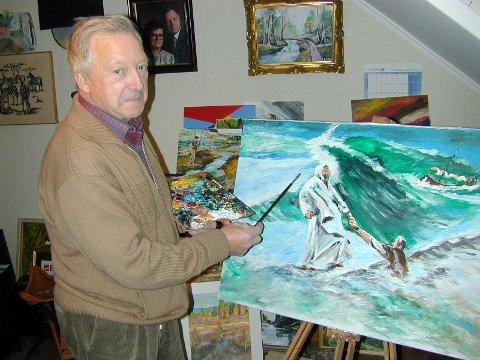 INTERESSE: Ragnar Carlsen var ikke bare malermester, men også en dyktig maler av bilder.