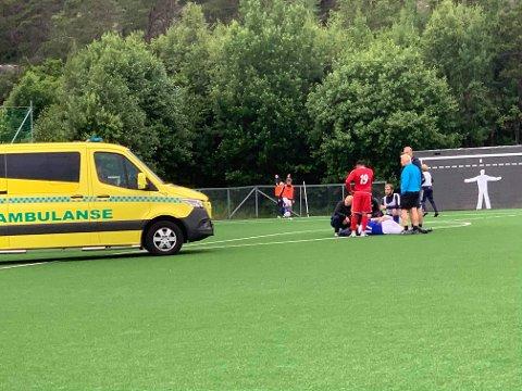 Ambulanse ble tilkalt til Trondalen mandag.