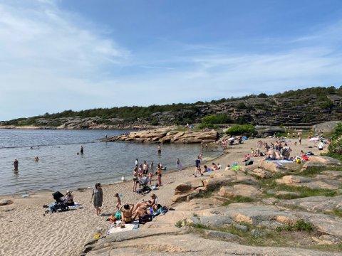 I dag kan man få en fin dag på stranda med opp mot 25 varmegrader i Fredrikstad.