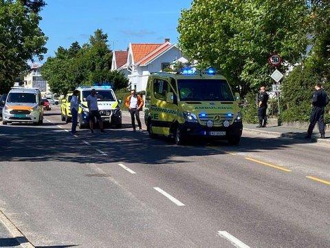 Trafikkulykke på Kråkerøy fredag ettermiddag.