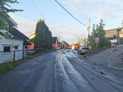 Lislebyveien blir stengt for gjennomkjøring ved nummer 161 til og med fredag 11. juni.