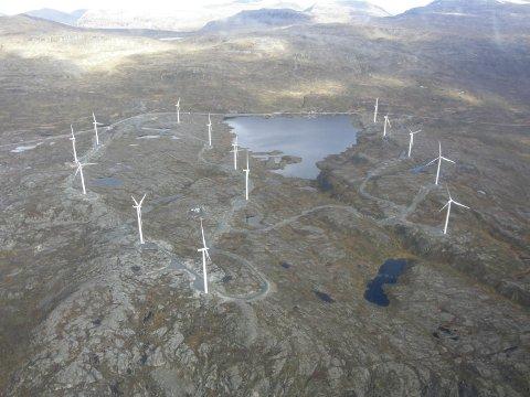 KAN BLI YTTERLIGERE FEM: I Narvik kommune er det i dag en vindmøllepark ved Skitdalshøgda på Nygårdsfjellet. Nå foreslår Futurum fem nye lokaliteter.