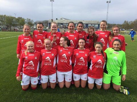 Disse damene vant 2-0 borte mot Brønnøysund lørdag.