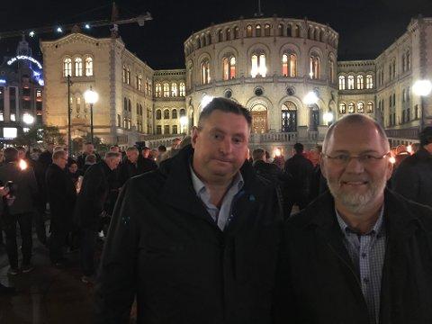 Ordfører og varaordfører i Narvik - Rune Edvardsen ogh Geir-Ketil Hansen.