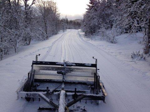 Skispor mellom Lilleskånland og Villdalen tidligere i februar.