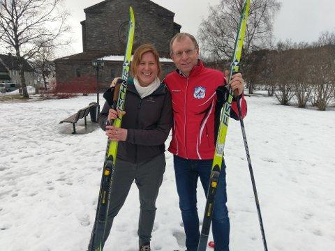 KLAR: Maren Joné og Bjørnar Mikkelborg gleder seg masse til å se flere hundre unger renne på ski rundt i Kirkeparken.