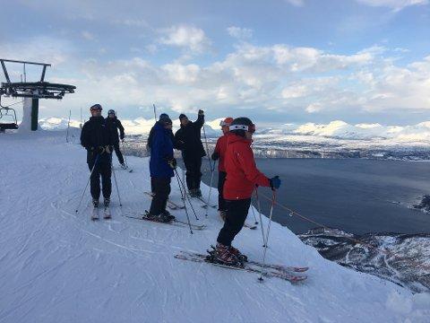 NRK på befaring i Fagernesfjellet.