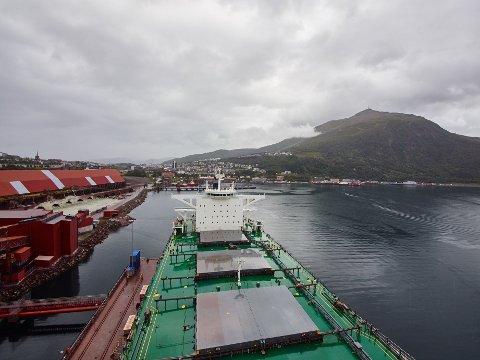LKABs utskipningsanlegg i sentrum av Narvik.