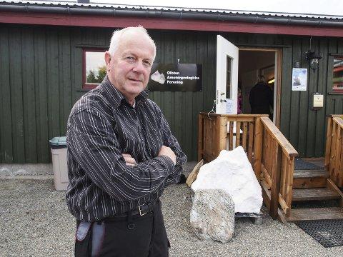 Geologiens dag: I helgen inviterer Alf Larsen og Ofoten amatørgeologiske forening til Geologiens dag i Håkvik.