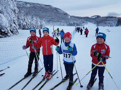 Firkløver. Fra venstre Martine Sofie Skog, Johanne Karlsvik Fedreheim, Even Karlsvik Fedreheim og Nora Hennie Skog.