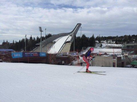 Charlene Ødegaard Bakke var blant lokale deltakere i skirenn søndag.